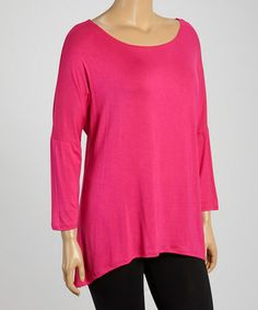 Another great find on #zulily! Fuchsia Hi-Low Tunic - Plus by MOA Collection #zulilyfinds
