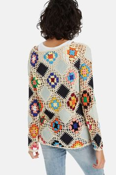 For Beginners Cardigan Knit diamond jumper Knitting Blogs, Knitting Stitches, Crochet Clothes, Diy Clothes, Crochet Cardigan, Knit Crochet, Knitting Patterns, Crochet Patterns, Jumper Knitting Pattern