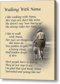"""""""Walking with Nana."""" Dale Kincaid Sold A x Print of """"Walking with Nana"""" to A Buyer From Eustace, Texas, USA. Great Quotes, Me Quotes, Inspirational Quotes, Family Quotes, Motivational, Grandma Quotes, Nana Poems, Sister Quotes, Daughter Quotes"""