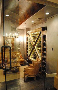 Amazing barrel vault ceiling in this home wine cellar/tasting room Zigarren Lounges, Barrel Vault Ceiling, Home Wine Cellars, Wine Cellar Design, Wine Tasting Room, Woman Cave, In Vino Veritas, Wine Storage, Storage Room