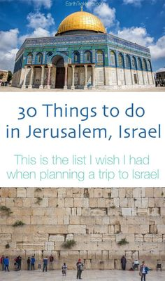 Best things to do in Jerusalem, Israel. 30 things to see and do in this amazing city. This is the list I wish I had before arriving in Israel. #culturetravelisrael