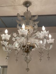Antique Murano glasses Blown Glass Chandelier, Murano Chandelier, Chandeliers, Glass Diffuser, Surprise Gifts, Italian Style, Murano Glass, Delicate, Ceiling Lights