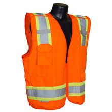 Radians Hi Vis Orange Surveyor Breakaway Vest Class 2 SV46O | Hi Vis Safety Direct will beat any other price , we are #1 in Hi Visibility Items .