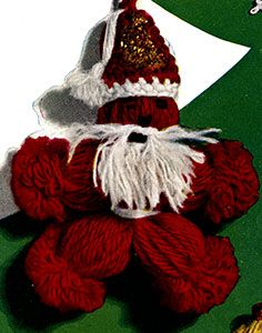 Santa Claus Ornament pattern published in Crochet for Christmas, Star Book #83.