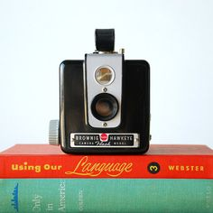 Vintage Camera Kodak Brownie Hawkeye Flash Model  Working by vint