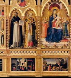 FRA ANGÉLICO  Diptico con la predela de San Nicolás de Bari.