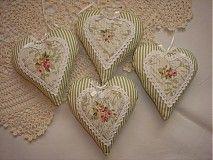 Dekorácie - Romantické levanduľové srdienka STOF - 2820267