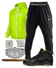 """""""Untitled #54"""" by young-rich-nvgga ❤ liked on Polyvore featuring NIKE, Rolex, Calvin Klein, Retrò, men's fashion and menswear"""