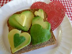 A darling, delicious and totally healthy Valentine's Day breakfast.