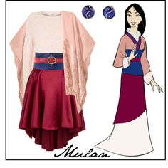 Mulan disneybound, love the colors Disney Bound Outfits Casual, Cute Disney Outfits, Disney Dress Up, Disney Themed Outfits, Cute Outfits, Princess Inspired Outfits, Disney Princess Outfits, Disney Inspired Fashion, Disney Fashion