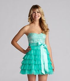 Inspire Me Tiered Strapless Dress   Dillard's Mobile