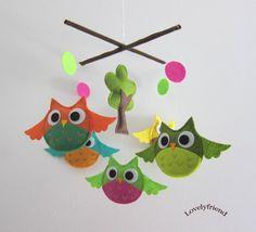 Baby Crib Mobile  Baby Nursery Mobile  Rainbow por lovelyfriend