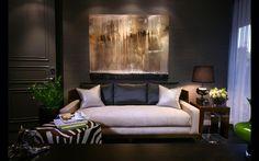 Designers Hunter & Barnes featured 3444 Manila Hemp Graphite in living room of residence. Home Interior Design, Interior Decorating, Living Room Designs, Living Rooms, House Design, Adam Hunter, Home Decor, Eclectic Wallpaper, Interior Wallpaper