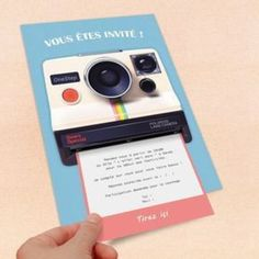 Customizable Birthday Invitation: Retro Polaroid Theme: Announcement by emilie-party Source by Creative Wedding Invitations, Diy Invitations, Birthday Invitations, Birthday Cards, Invitation Card Design, Invitation Cards, Diy And Crafts, Paper Crafts, Pajama Party