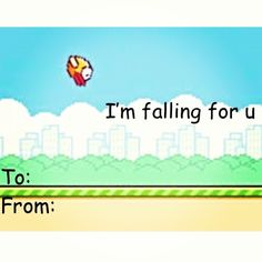 Click to see more! Valentines Day Cards Tumblr, Valentine Day Love, Funny Valentine, Valentine Cards, Tumblr Funny, It's Funny, Funny Stuff, Flappy Bird, Pun Card