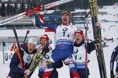 Johannes Thingnes Bø, Ole Einar Bjørndalen, Emil Hegle Svendsen and Tarjei Bø