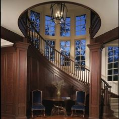 Staircase Wood Column Design, Pictures, Remodel, Decor and Ideas