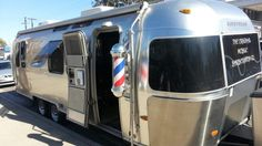 The Original Mobile Barbershop Company, based in North Hollywood & Sherman Oaks CA, operates in a customized 28-foot Airstream trailer. A video profile, including an interview with founder/owner Julian Payne, can be found at www.youtube.com/watch?v=mpkk7jQTDA0