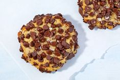 These 6-Ounce Chocolate Chip Covered Cookies Are The Best Thing You'll Ever Make For YourselfDelish Great Desserts, Cookie Desserts, Cookie Recipes, Delicious Desserts, Dessert Recipes, Yummy Food, Giant Chocolate, Best Chocolate, Chocolate Chip Cookies