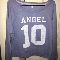 Victoria's Secret Angel Distressed Sweatshirt Brand New. Never Worn. No Trades. Distressed Lettering Cozy Sweatshirt. Victoria's Secret Tops Sweatshirts & Hoodies