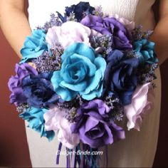 These blue and purple flowers go with my summer night theme! :)