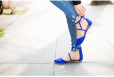 Pointy Toe Ankle-Strap Flats - chuu | YESSTYLE
