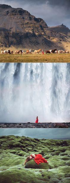 The Icelandic red dress