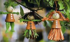 Clay flower pot crafts - 25 cute designs and painting ideas