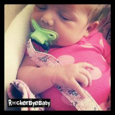 Custom Punk Rock Baby or Toddler Pacifier Clip by RockerByeBaby, $8.00