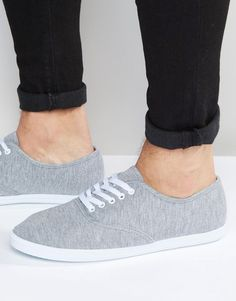 ASOS Oxford Sneakers in Gray Marl
