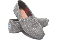 Grey Dot Womens Classics hero...I love my one pair of Toms. Id be happy with any other pair that is cute. Sort of partial to grey. I think I wear size 7...or 7.5.