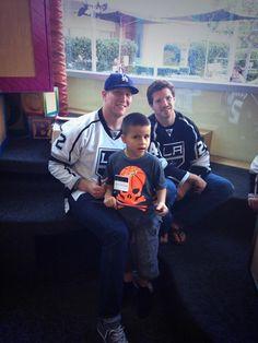 #LAKings' Greene & Fraser visiting Children's Hospital LA.