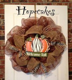 Fall wreath by Hopecakes  hopecake2@hotmail.com