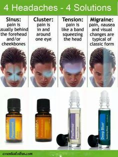 """Headaches are like us! They come in all shapes and sizes! I use doTerra Frankincense under my tongue for my """"halo"""" migraines"""