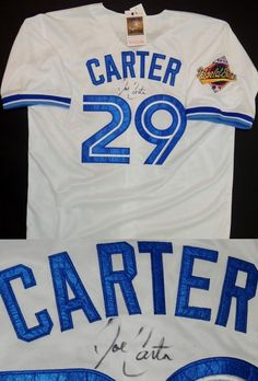 1575f194b3a AAA Sports Memorabilia LLC - Joe Carter Autographed Toronto Blue Jays  Authentic White Throwback Jersey with