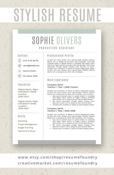 How To Do A Reference Page For A Resume Amusing Modern Resume Template For Word 13 Page Resume  Cover Letter  .