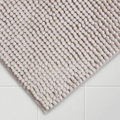 BuyJohn Lewis Chenille Bobble Bath Mat, Silver Grey Online at johnlewis.com