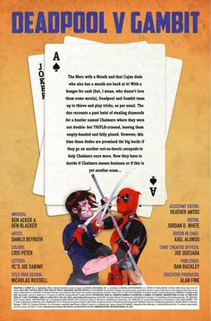 Preview: Deadpool vs. Gambit #2, Story: Ben Acker & Ben Blacker Art: Danillo Beyruth Cover: Kevin Wada Publisher: Marvel Publication Date: July 6th, 2016 Price: $3.99  &nbs...,  #All-Comic #All-ComicPreviews #BenAcker #BenBlacker #Comics #DanilloBeyruth #Deadpoolvs.Gambit #KevinWada #Marvel #previews
