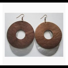 🎄🎄Leather earrings🎄🎄 🎄🎄These 100% Leather earrings are stylish🎄🎄 Jewelry Earrings