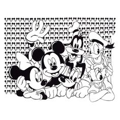 If You are into the classic Disney characters you will love this #Blackandwhite #pick showing #Mickey, #Minnie, #Pluto #Donald ,#Daisy. and #Goofy.   Classic #Disneycharacters
