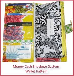 I feel like making my own cash envelope wallet is something I really MUST be able to do. Money Cash Envelope System Wallet Sewing Pattern
