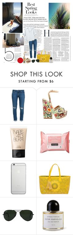 """""""take back my love"""" by velvetshores ❤ liked on Polyvore featuring Balmain, H&M, Paige Denim, Sergio Rossi, NARS Cosmetics, Neutrogena, Native Union, BUCO, Ray-Ban and Byredo"""