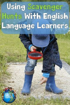 A scavenger hunt with is a fun and engaging way to help English Language Learners. They are a great way to help students learn new vocabulary. Teaching French, Teaching English, Teaching Spanish, Efl Teaching, Teaching Ideas, English Language Learners, Spanish Language Learning, Language Arts, Daycare Curriculum