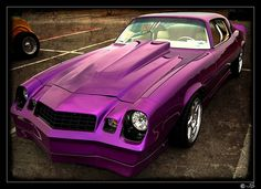 Photo from the Woodland High car show in Stockbridge Georgia today. Chevrolet Camaro 1970, Chevy Chevelle Ss, Classic Hot Rod, Classic Cars, My Dream Car, Dream Cars, Purple Cars, High Car, Sport Cars
