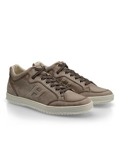 #HOGAN Men's Spring - Summer 2013 #collection: nubuck MID CUT #sneakers H168.