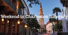 See the best of Charleston, SC in just ONE DAY. Sample itinerary: http://www.chelsescompass.com/weekend-itinerary-charleston/