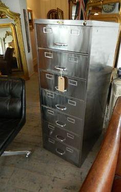 Super polished 1940s filing cabinet.... Hmmm, I wonder if I can ...