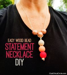 Easy Homemade Statement Necklace by Club Chica Circle.