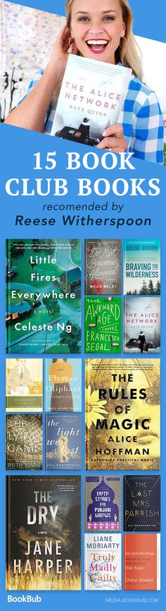 A great list of book club ideas from Reese Witherspoon's book club! Including great books for women and men.