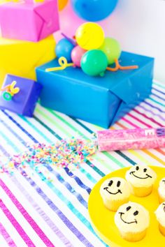 Six Party Hacks For A Colorful Birthday Bash Birthday Crafts, Birthday Bash, Birthday Decorations, Birthday Parties, Party Hacks, Diy Party, Colorful Birthday, Baby Shower Cakes, How To Introduce Yourself
